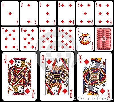 Klassische Spielkarten - Diams