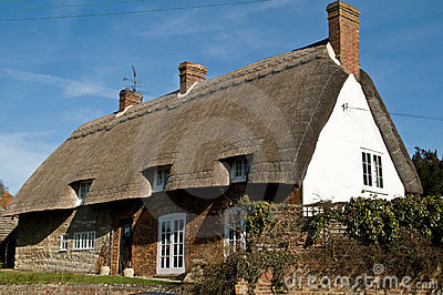 Klassisches britisches landwirtschaftliches Haus
