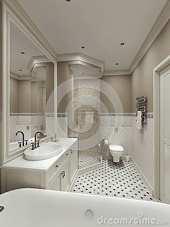 Badrum badrum klassiskt : Klassiskt Badrum I Landsstil Arkivfoto - Bild: 84402410