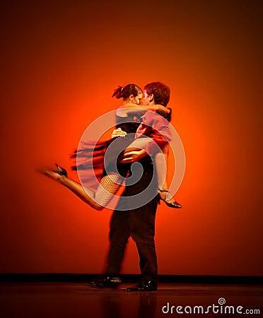 Klassiska dansare Redaktionell Arkivfoto