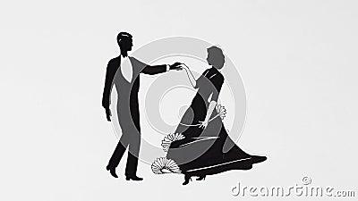 Klasyczna taniec para
