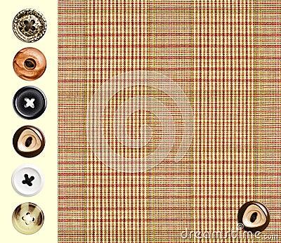 Klasyczna w kratkę tkanina
