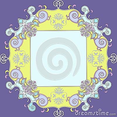 Klasyczny kolorowy dekoracyjny ramowy rocznik