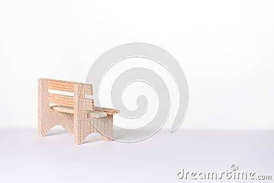 kleine einfache rustikale holzbank in einem reinraum lizenzfreies stockbild bild 38534956. Black Bedroom Furniture Sets. Home Design Ideas