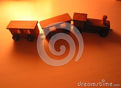 Kleine stuk speelgoed trein
