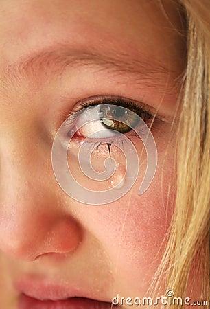Kleines trauriges Mädchen
