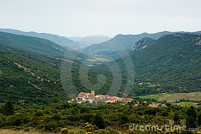 Kleinstadt in den französischen Pyrenees