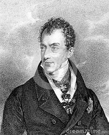 Klemens von Metternich Editorial Stock Photo
