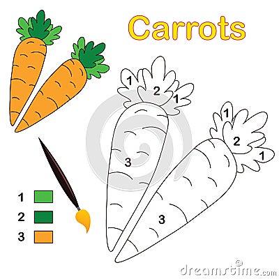 Kleur door aantal: wortelen