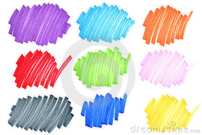 Kleurrijke inktkrabbels