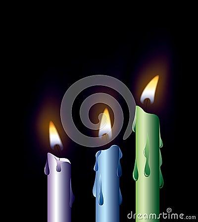 Kleurrijke kaarsen