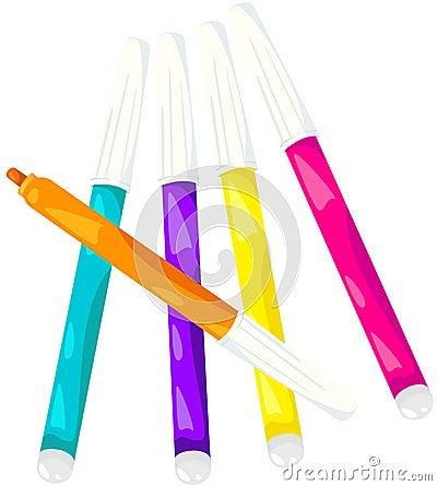 Kleurrijke magische pennen