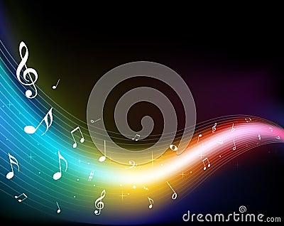 Kleurrijke muzieknota s