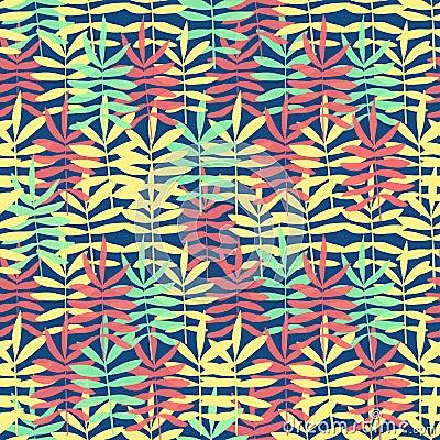 Kleurrijke textuur met hand getrokken bladeren vector illustratie afbeelding 60072944 - Ongewoon behang ...