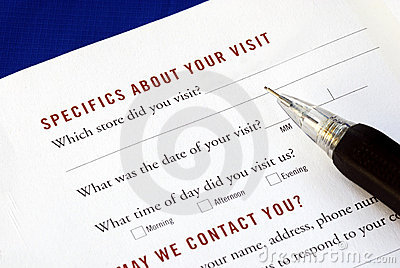 Klienta informacje zwrotne pełni ankieta