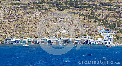 Klima village, Milos island, Cyclades, Greece