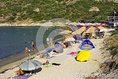 Klimataria beach Editorial Stock Image