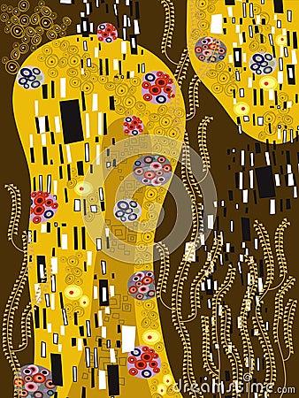 Free Klimt Inspired Abstract Art Stock Image - 3455061