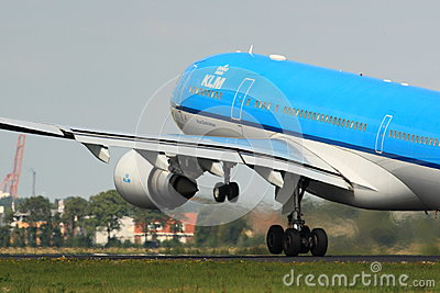 KLM A330 takeoff Editorial Photo