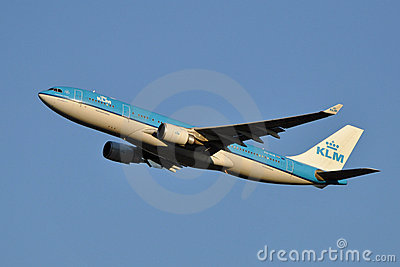 KLM Airbus A330 Taking Off Editorial Image