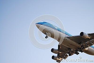 KLM Airplane Editorial Image