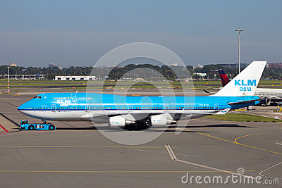 KLM Boeing 747 Editorial Stock Photo