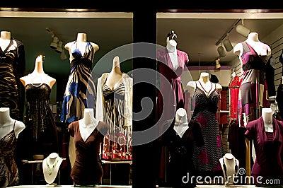 Klänningen shoppar