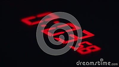Klok 04 Digitaal Rood Aftelprocedurescorebord stock footage