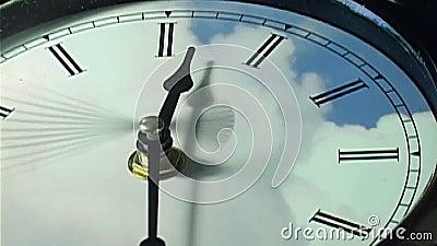 Klok in tijd-tijdspanne lijn stock videobeelden