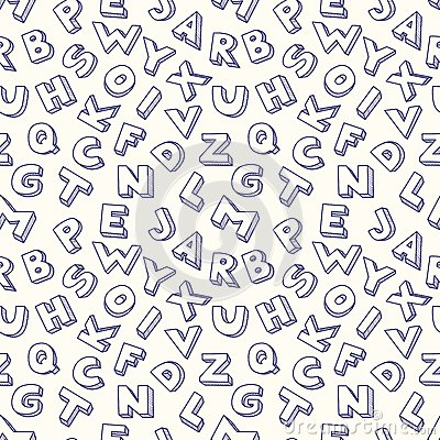 Klottra den sömlösa modellen för alfabetet.