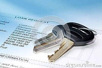 Klucz pożyczki wniosku