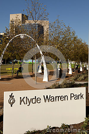Klyde Warren Park Editorial Photography