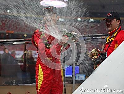 Kämpar för det beijing facket 2009 den dong racen Redaktionell Fotografering för Bildbyråer