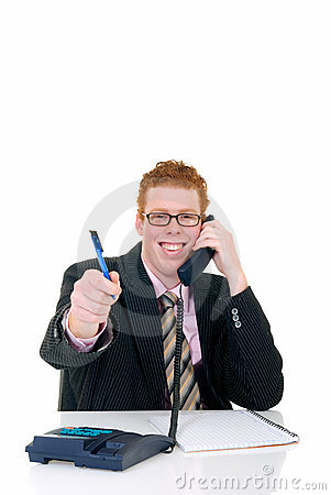 Knappe jonge mannelijke secretaresse stock afbeelding beeld 4645551 - Secretaresse witte ...