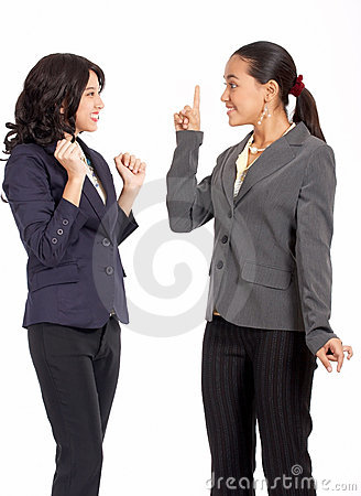 Knappe vrouwelijke collega s