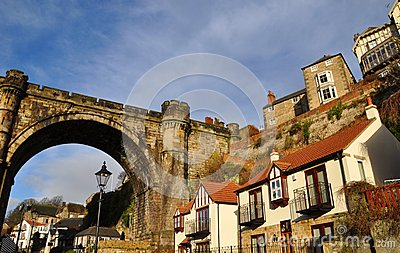 Knaresborough homes viaduct bridge  England