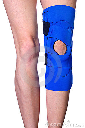 Free Knee In Knee Brace After An Injury Stock Photo - 1751770