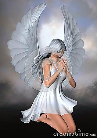 Free Kneeling Angel Stock Images - 21914794