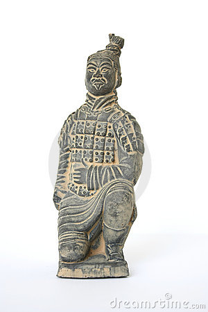 Free Kneeling Terracotta Warrior Royalty Free Stock Images - 6485029