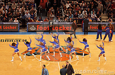 Knicks Cheerleaders Editorial Image