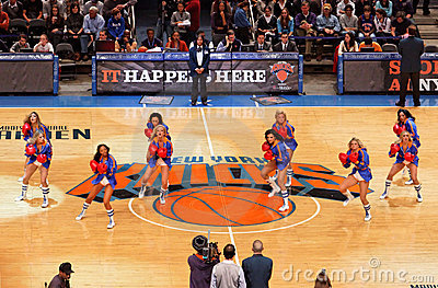 Knicks Cheerleaders Editorial Stock Image
