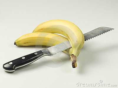 Knife and bananas