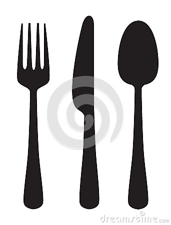Free Knife, Fork And Spoon Royalty Free Stock Images - 47285779