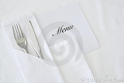 Knife and Fork with Menu