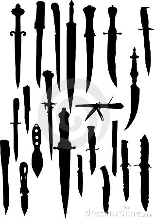 Knife silhouettes collection