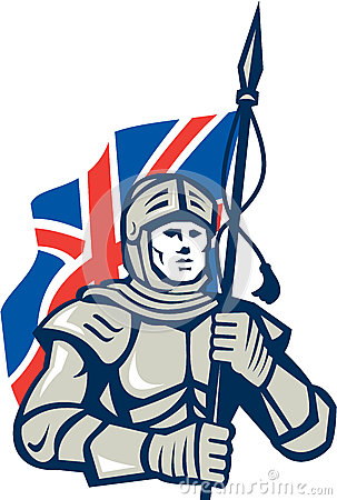 Knight British Flag Retro