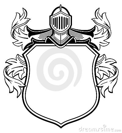 Knight with coat of arms