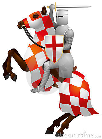 knight on the horse crusader stock photos image 18183383