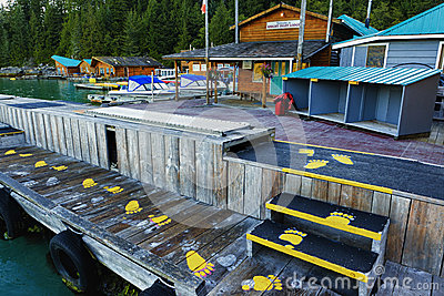 Knight Inlet Lodge Canada Editorial Stock Image