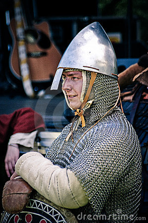 Knight on medieval festival Editorial Stock Photo